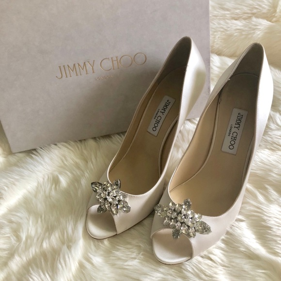 3fcbda95fd5 Jimmy Choo Mia Silk Satin Peep Toe Pump Ivory